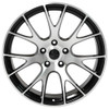 "Hellcat Style 22"" Wheels Black w Machined Face Dodge Ram Dakota Durango Chrysler Set of 4 22x10"" Rims"