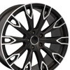 "20'' Fits Audi Q Series Q7 style Satin Black Machined Face Wheels Set of 4 20x9"" Rims"