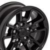 "17'' Fit's Dodge Ram 1500 Rebel Style Durango Dakota Chrysler Aspen Wheels Satin Black Set of 4 17x8"" Rims Hollander 2553"