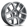 "22"" Fit's 2002 to 2018 Dodge Ram 1500 Ram Laramie Hemi Dakota Durango Wheels Gray Machined Face 5x139 Set of 4 22x9"" Rims"