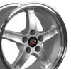 "17"" Fits Mustang® Cobra R Deep Dish Wheel Silver 17x9"