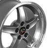 "17"" Fits Mustang® Cobra R Deep Dish Wheel Gunmetal 17x9"