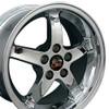"17"" Fits Mustang® Cobra R Deep Dish 5 Lug Staggered Wheels Chrome Set of 4 17x9/10.5"" Rims"