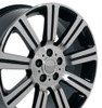 "20"" Fits Land or Range Rover Stormer Wheel Machined Black Set of 4 20x9.5"" Hollander 72200"