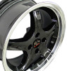 "17"" Fits Mustang® Cobra R 4 Lug Deep Dish Wheel Black 17x8"