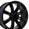 """22"""" Fits Cadillac Escalade Chevy GMC Tahoe Silverado Sierra Yukon Wheel Gloss Black 22x9"""" Rim"""