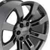 "20"" Fits Cadillac Escalade GMC Suburban Tahoe Wheels Rims PVD Black Chrome Set of 4 20x8.5"" Hollander 5409"