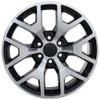 "22"" Chevy 1500 GMC Sierra Wheels Black Machine Face Set of 4 22x9"" Rims Hollander 5656"