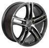 "17"" Fits Audi R8 Wheel Gunmetal w/ Machined Face Set of 4 17x7.5"" Rims"
