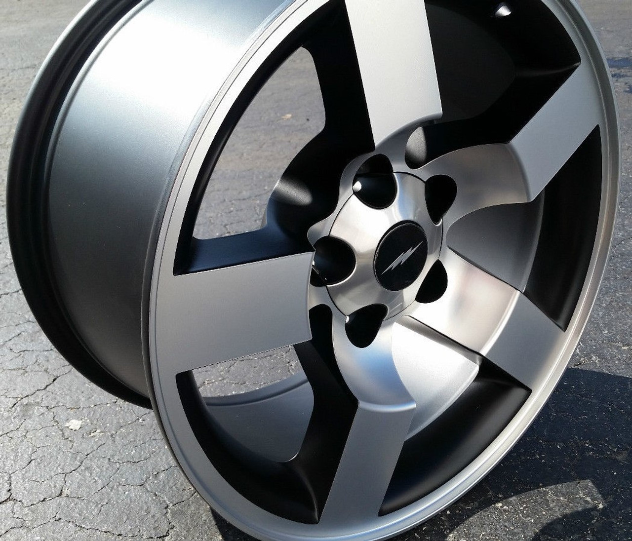 "18"" Ford Lightning Wheels F150 SVT Style Rare Machined Black Set of 4 18x9."