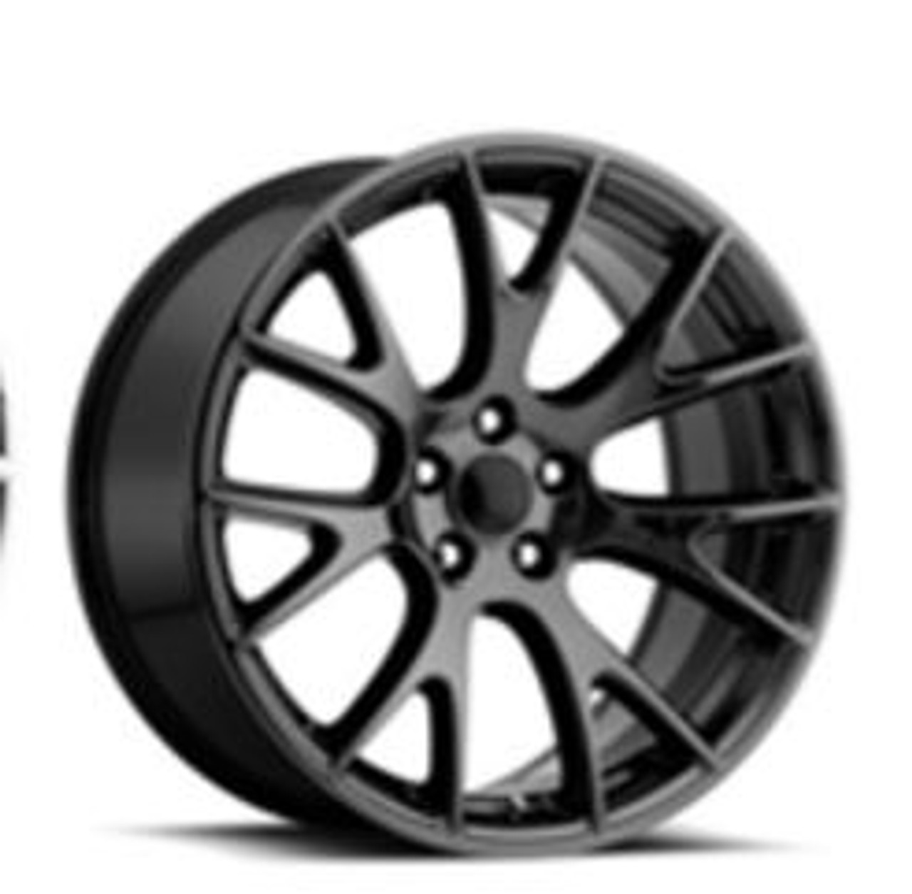 Hellcat Style 22 Wheels Pvd Black Chrome Dodge Challenger 300 Charger Magnum Staggered Set Of 22x9 10 Rims Stock Wheel Solutions