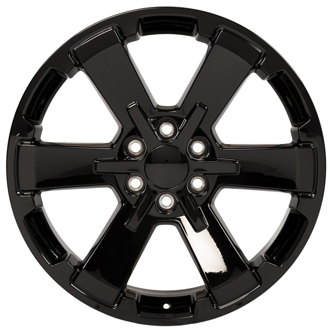 22 Fits Chevy 1500 Midnight Wheel Gloss Black Rally Gmc Yukon Denali Ck162 22x9 Rim Stock Wheel Solutions