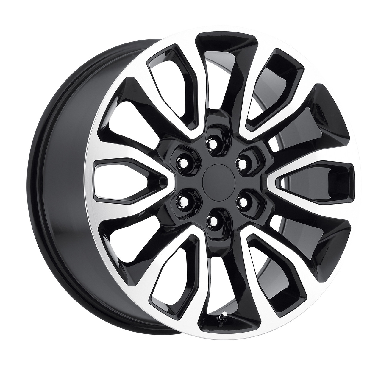 20 fits ford f150 6 lug wheels black machined face raptor style set of