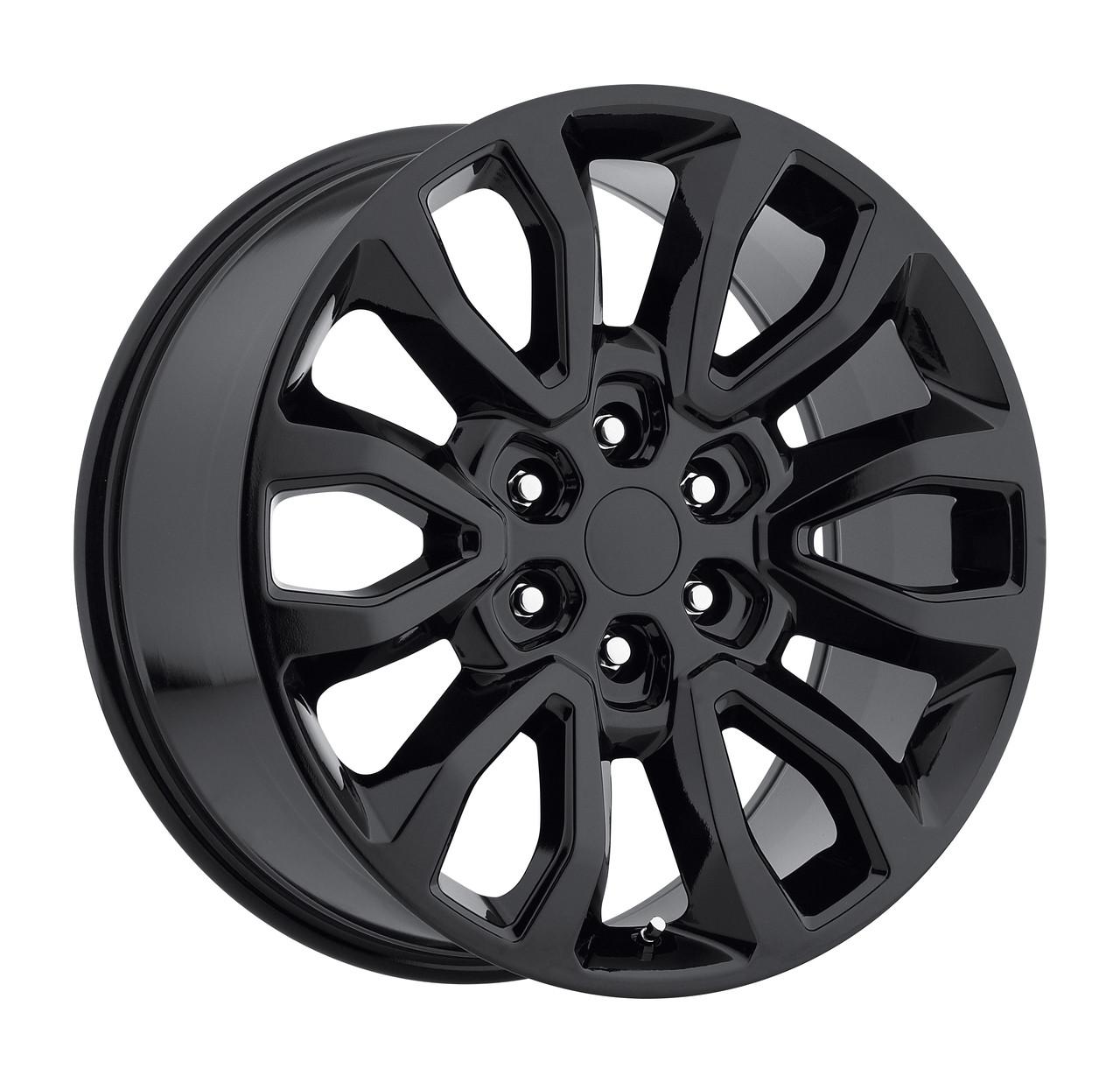 20 fits ford f150 6 lug wheels gloss black raptor style set of 4