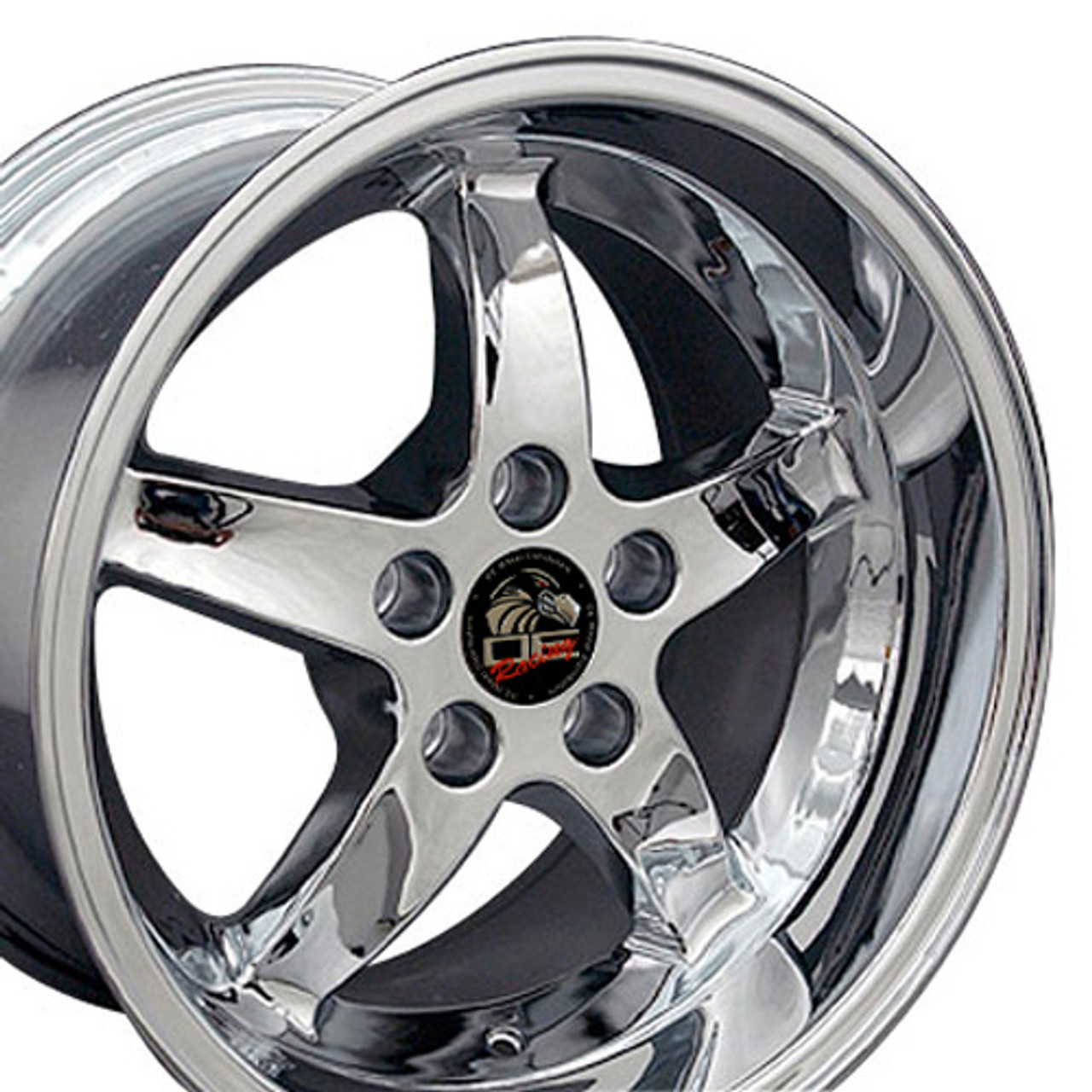 Ford Mustang Rims >> 17 Fits Ford Mustang Cobra R 5 Lug Wheels Chrome 17x10 5 Rims