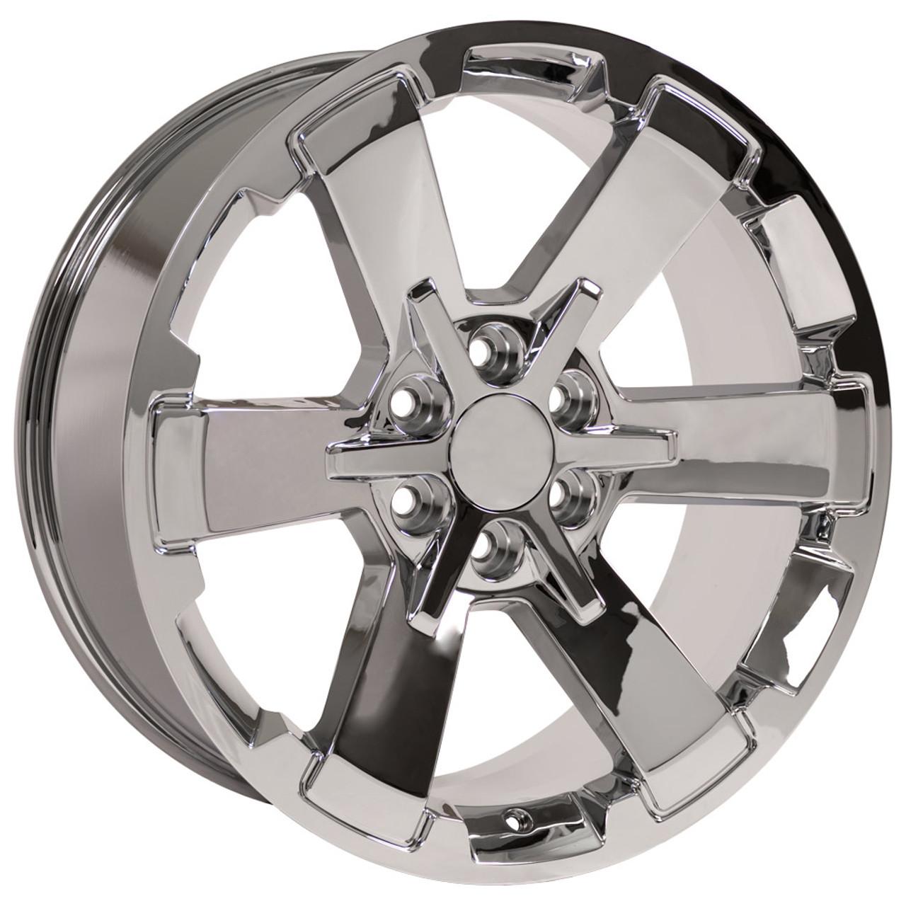 "22"" Fits Chevy 1500 Midnight Wheels Chrome Rally GMC Yukon"