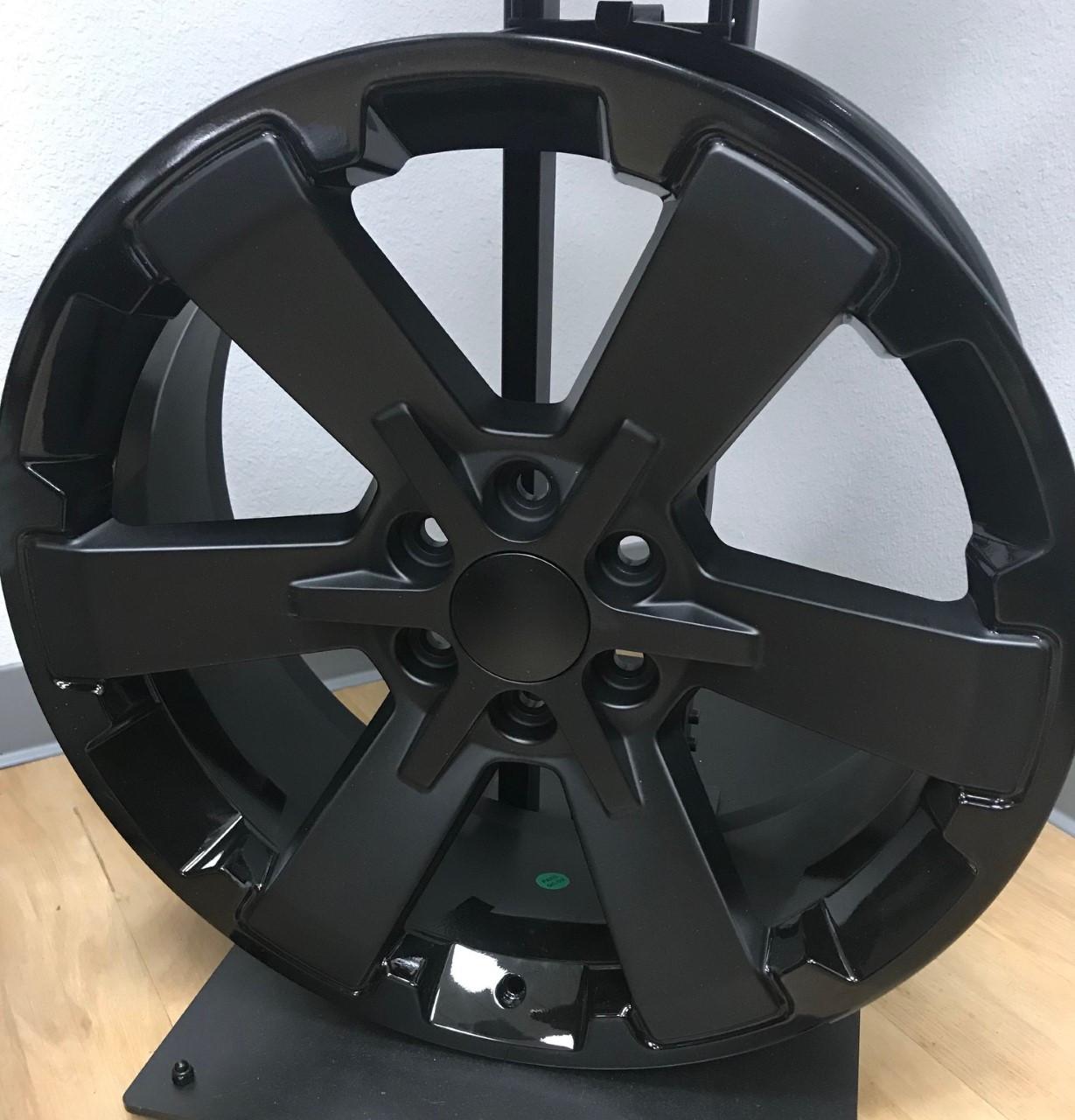 24 Fits Chevy 1500 Midnight Wheels Two Tone Black Rally Gmc Yukon Denali Ck162 Set Of 4 24x10 Rims Stock Wheel Solutions