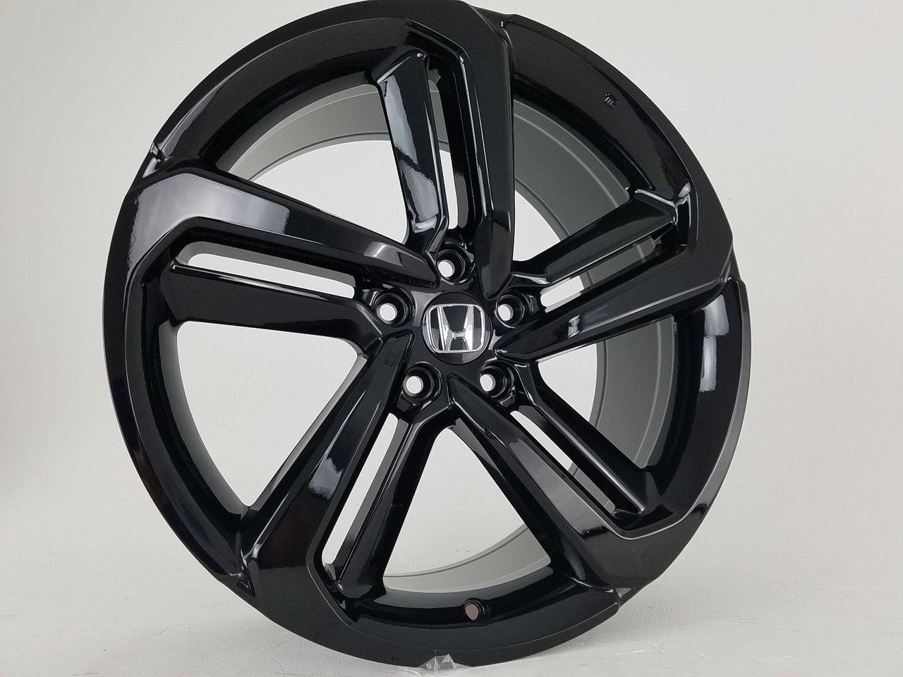 19 2018 19 Fits Honda Accord Sport Civic Si Exl Acura Gloss Black Wheels Set Of 4 19x8 5 Rims Stock Wheel Solutions