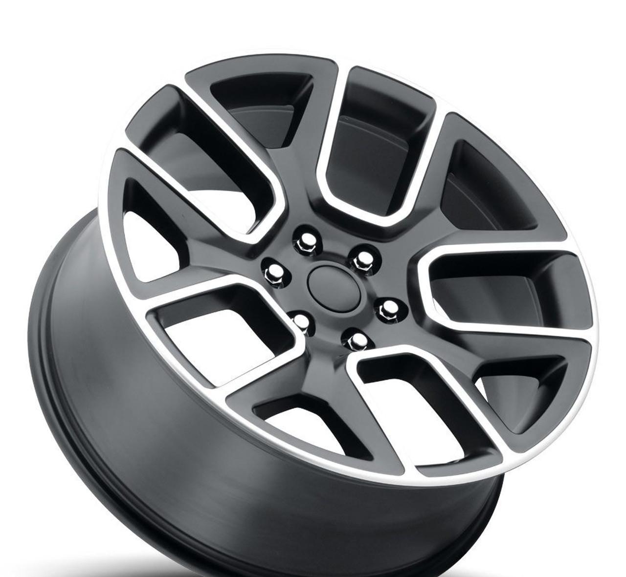 Dodge Ram Rims >> 22 Fit S 2019 Dodge Ram 1500 Laramie Hemi Wheels Satin Black Machined Face Set Of 4 22x9 Rims