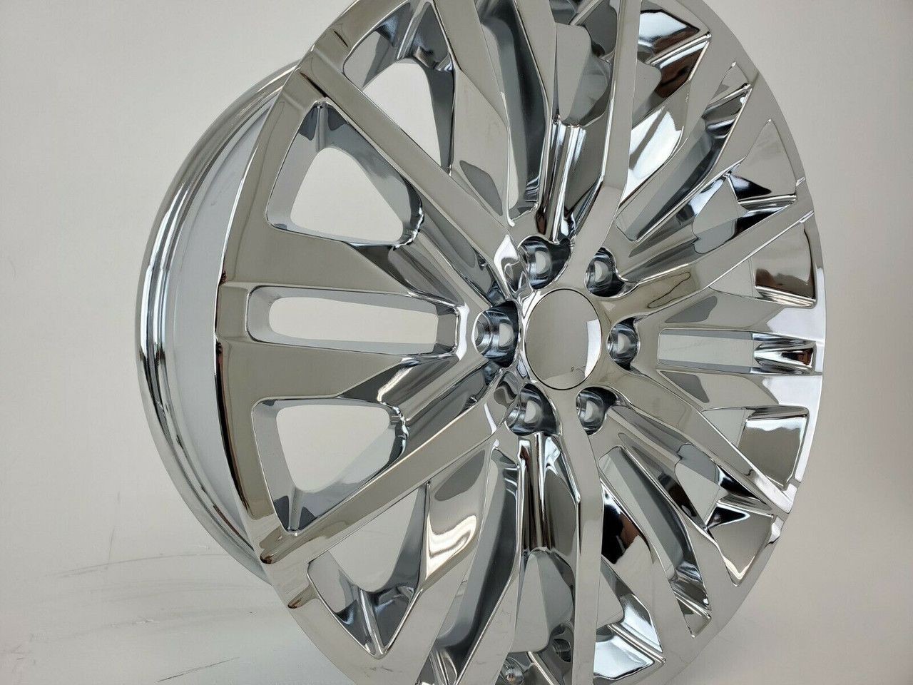 22 2019 Chevy Silverado 1500 Elevation Chrome Wheels Tahoe Gmc Sierra Set Of 4 22x9 Rims Stock Wheel Solutions