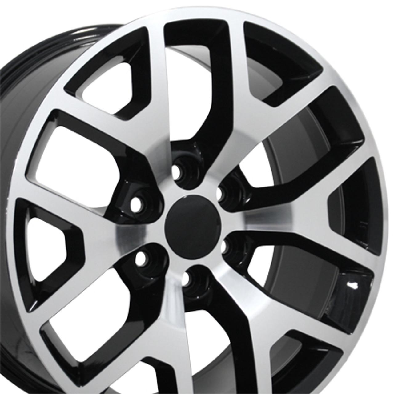 "20"" Chevy 1500 Silverado Wheels GMC Sierra Black Machine ..."
