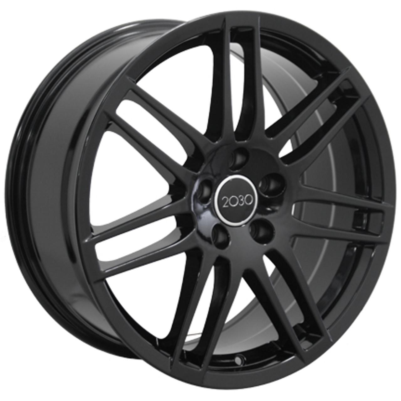 18 Fits Audi Rs4 Wheel Gloss Black Set Of 4 18x8 Rims 42mm Offset Stock Wheel Solutions
