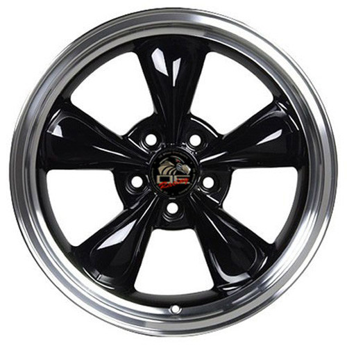 17 Fits Ford Mustang Bullitt Wheels Black With A Fine Machined