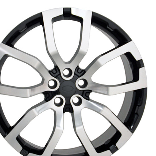 """22"""" Fits Land Range Rover Wheels Black with Machined Face Set of 4 22x10"""" Rims"""