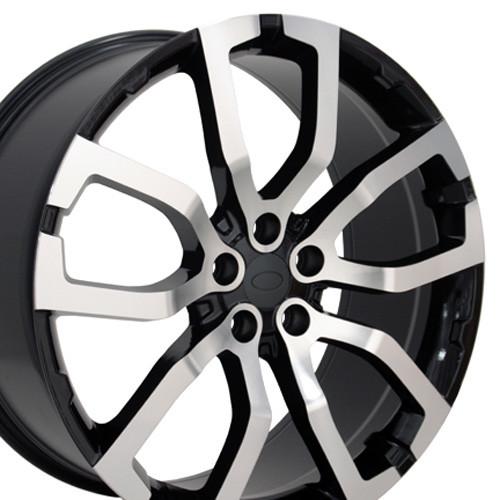 "22"" Fits Land or Range Rover Wheels Machined Black Set of 4 22x10"" Rims"