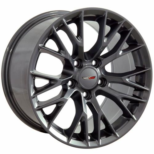 "17"" Fits Corvette C7 Gunmetal Z06 Style Wheels Set of 4 17x9.5"" Rims"