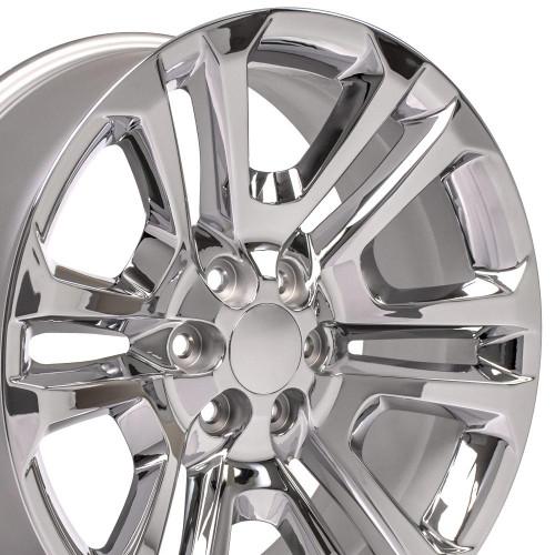 "20"" 2015 CK158 Chevy GMC Yukon Sierra Chrome Wheels Set of 4 20x9"" Rims"