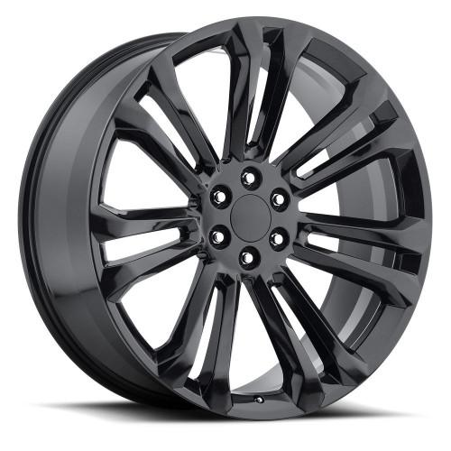 "22"" 2015 GMC 1500 Sierra Tahoe CK159 Chevy Silverado Gloss Black Wheels Set of 4 22x9"" Rims"