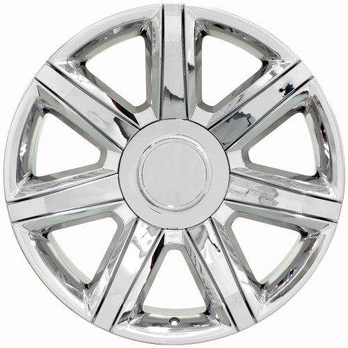 22 Fits Cadillac Escalade Wheels Pvd Chrome With Chrome Insert Set