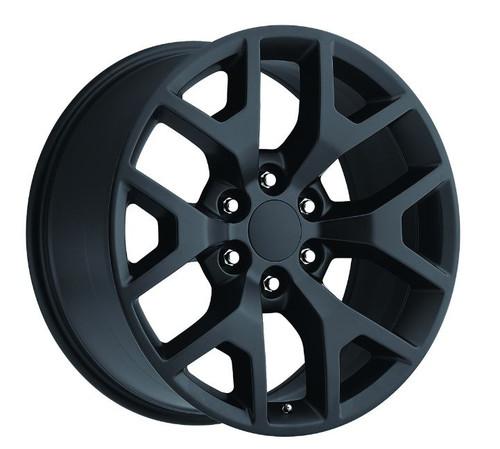 "20"" 2014 GMC Sierra Chevy 1500 Wheels Satin/Flat Black Set of 4 20x9"" Rims"