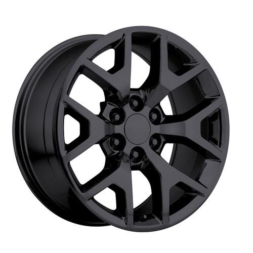 "20"" 2014 GMC Sierra Chevy 1500 Silverado Wheels Rims Tire Pkg Gloss Black Set of 4 20x9"" Hollander 5656"