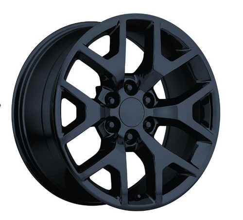 "22"" 2014 GMC Sierra Chevy 1500 Wheels Gloss Black Set of 4  22x9"" Rims Hollander 5656"