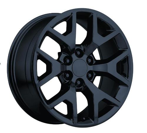 "22"" 2014 GMC Sierra Chevy 1500 Wheels Gloss Black Set of 4  22x9"" Rims Hollander 5656"