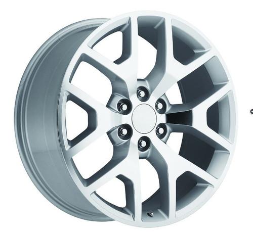 "20"" Chevy 1500 Silverado Wheels GMC Sierra Silver Machine Face Set of 4 20x9"" Rims"