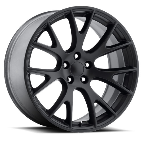 """Hellcat Style 20"""" Satin Black Dodge Challenger 300 Charger Magnum Staggered Wheels Set of 4 20x9.5/10.5"""" Rims"""