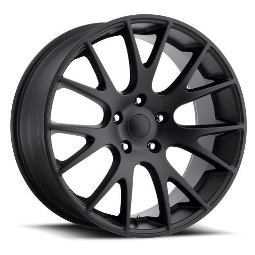 "22"" Hellcat Style Gloss Black SRT Style Jeep Grand Cherokee Durango Dodge Wheels Rims Set of 4 22x9"