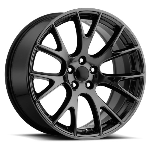 "Hellcat Style 20"" Staggered Wheels Gloss Black Dodge Challenger 300 Charger Magnum set of 4 20x9.5/10.5""Rims"