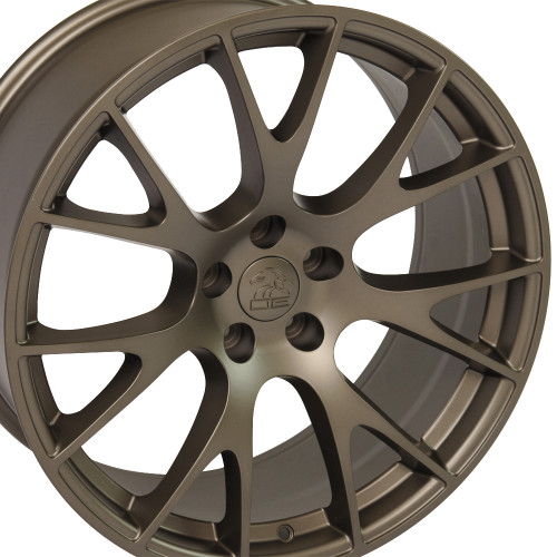 "22"" Hellcat Style Wheels Bronze Dodge Ram 1500 Dakota Durango Chrysler Set of 4 22x10"" Rims"