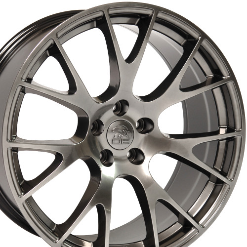 "Hellcat Style 22"" Wheels Hyper Black Dodge Ram Dakota Durango Chrysler Set of 4 22x10"" Rims"