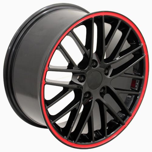 18 Chevrolet Corvette C6 Zr1 Wheel Black With Red Band 18x85 Rim