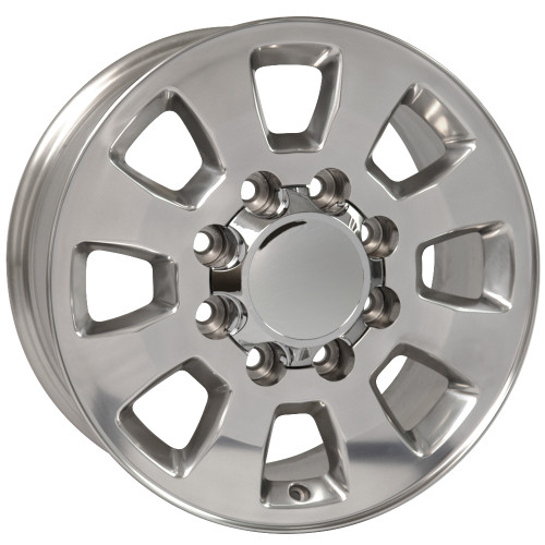 "18"" Fits Chevrolet GMC Sierra 2500 3500 8x165 Wheels Polished Set of 4 18x8"" Rims"