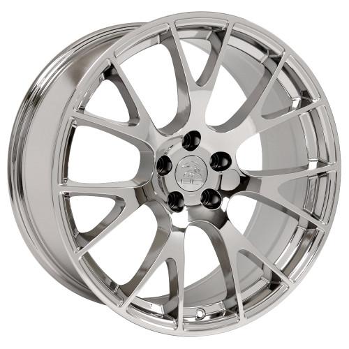 "Hellcat Style 22"" Chrome Dodge Ram Wheels Dakota Durango Chrysler Set of 4 22x10"" Rims"