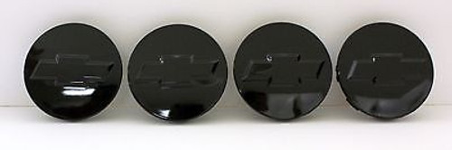 2010-14 Chevy Bowtie Center Caps Silverado Suburban Tahoe Gloss Black 3.25 Set of 4 Brand new Factory OEM Style