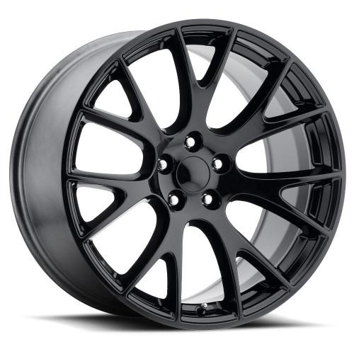 "20"" Hellcat Style wheels Gloss Black SRT Style Jeep Grand Cherokee Durango Dodge Wheels Rims Set 20x9"" Rims"