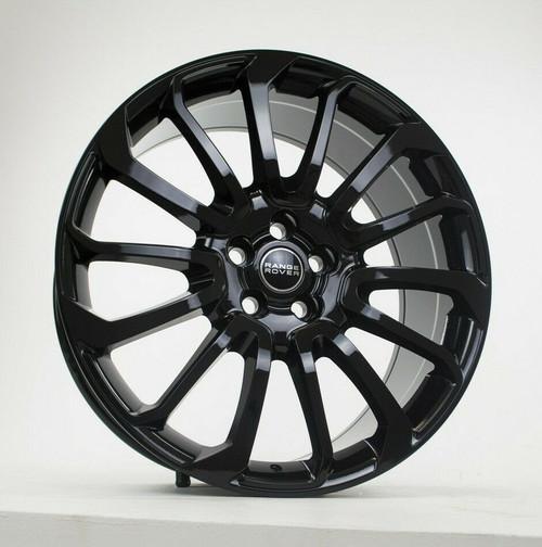 "22"" Fits Range Rover Autobiography Wheels HSE Sport Land Rover Gloss Black Rims Set of 4 22x9.5"""