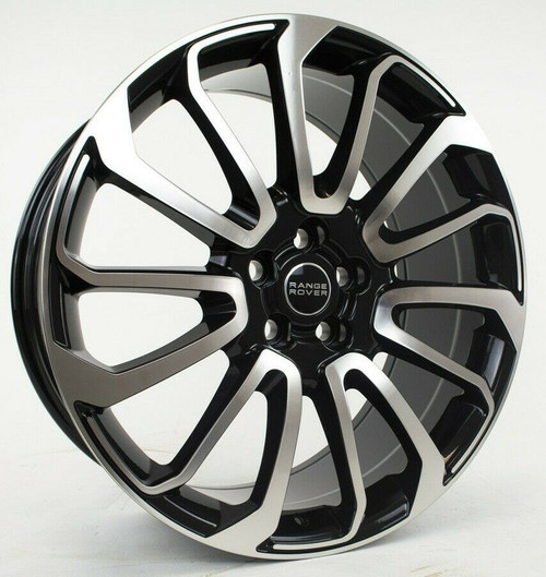 """22"""" Fits Range Rover Autobiography Wheels HSE Sport Land Rover Machined Black Rims Set of 4 22x9.5"""""""